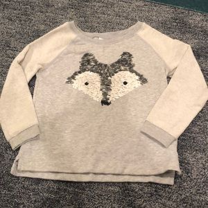 Girls fox sweatshirt size small 5/6